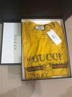 Gucci塗鴉短袖上衣