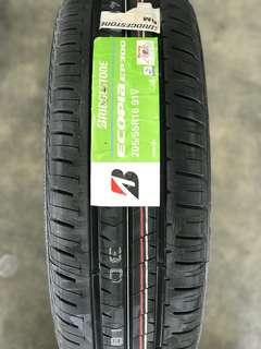 Bridgestone ecopia 205 55 16 tayar preve exora civic fd fb