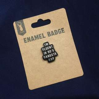 Typo enamel badge