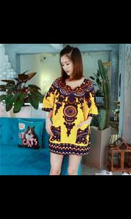 ethnic pattern- yellow
