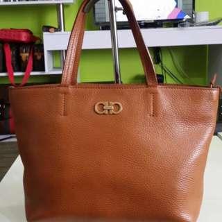 Authentic Preloved salvatore ferragamo leather tote bag