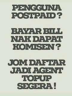 Agent Topup Diperlukan