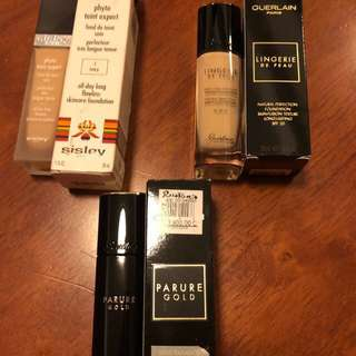 *AUTHENTIC*  Guerlain and Sisley Luxury Foundations Samplers / Takals - 2ml/3ml