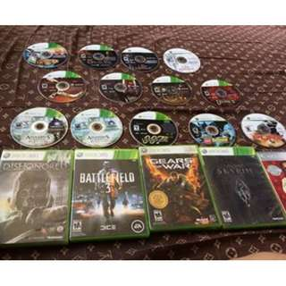 XBOX 360 GAMES WITH NO CASE