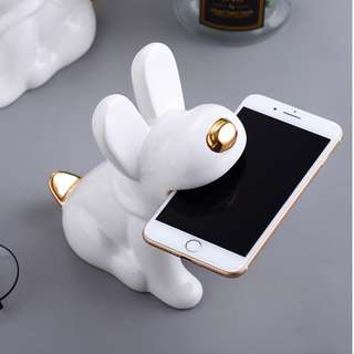 White Puppy - Handphone Holder