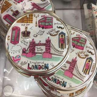 Primark hand held portable hand mirror London face uk gift present handy small girls ladies