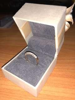 Rose Gold diamond ring Gold Heart