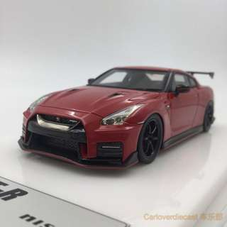 全新Make Up 1:43 NISSAN GTR R35 NISMO N Attack Package 2017 Vibrant Red EM357E