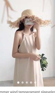 Apricot halter dress