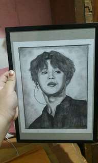 KPOP CHARCOAL SKETCH + FREE SHIPPING