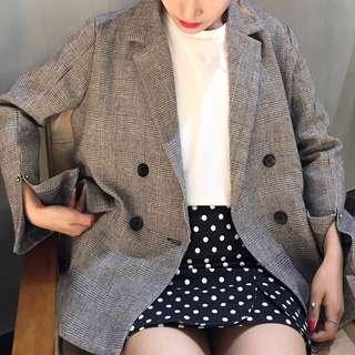 Plaid blazer/jacket