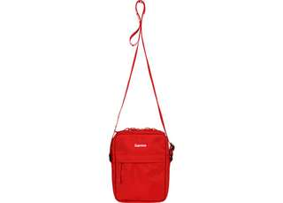 """INSTOCKS """"Supreme logo"""" ss18 shoulder bag red"""