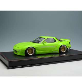 全新Make Up 1:18 Rocket Bunny RX-7 (FD3S) Lime Green IM002A4