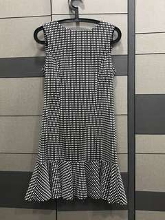 Warehouse checked vintage dress