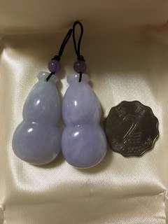 天然A貨玉器紫羅蘭翡翠葫蘆