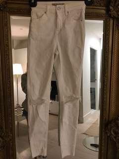 White topshop jamie jeans