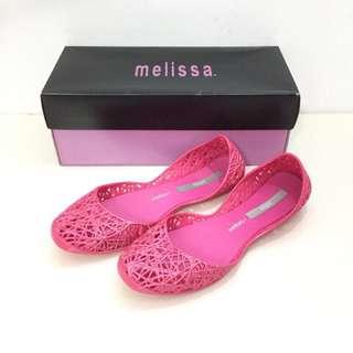 🚚 Melissa+Campana香香鞋 巴西尺寸37(Mel 經典款鳥巢娃娃鞋-桃紅色)