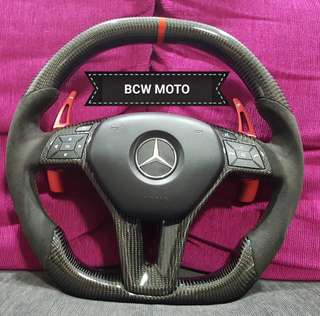 Mercedes benz W204 facelift carbon works steering