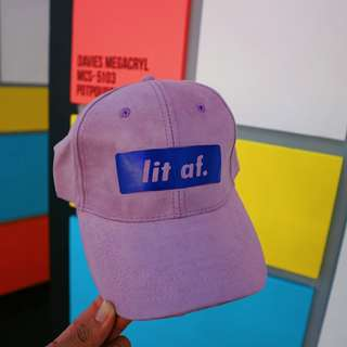 LIT AF Purple Suede Cap