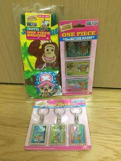 [20 for 3] Limited Singapore One Piece Chopper Collection Magnet, Holders and Socks