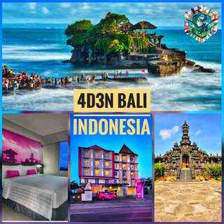 4D3N ALL IN BALI INDONESIA WITH TOURS OCTOBER GETAWAY FOR 2