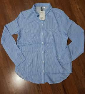 H&M Stripe Blue Shirt