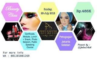 Voucher One Day Beauty Class (Self Makeup) & Public Speaking