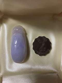 天然A貨玉器紫羅蘭翡翠福瓜