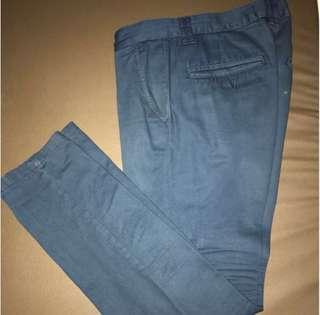 Topman London Skinny Chino 32 R in navy blue