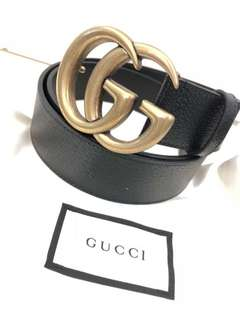 Gucci 黑金皮带 4cm宽 Size 100。105  特价