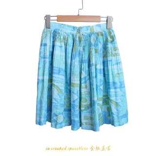 🚚 古著/夏天眼睛吃冰淇淋/藍短裙/短的無法裙擺搖搖