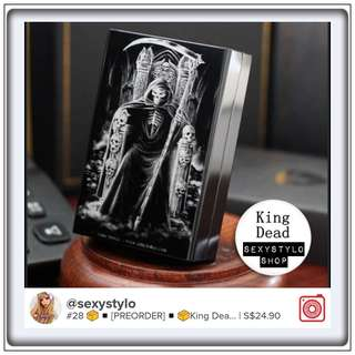 #29 📦◾🅿re🅾rder◾📦King Dead male cigarette case high quality ultra thin automatic aluminium alloy strong metal cigarette case King Dead laser design forever man cigarette boxes