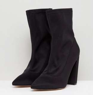 Asos Pointed Sock boots (wide fit)