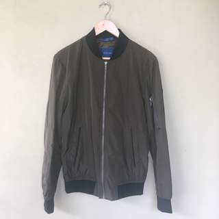 Zara Green Army Bomber