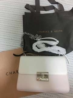 Charles and Keith Handbag Pink