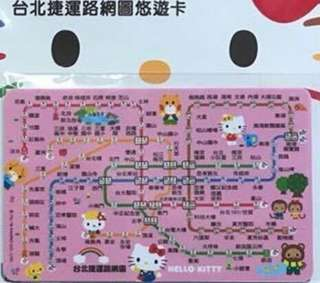 HELLO KITTY 台北捷運路網圖悠遊卡