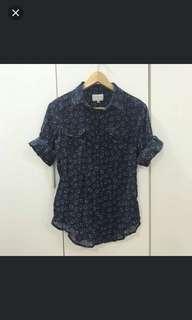Cotton On Shirt Navy Blue