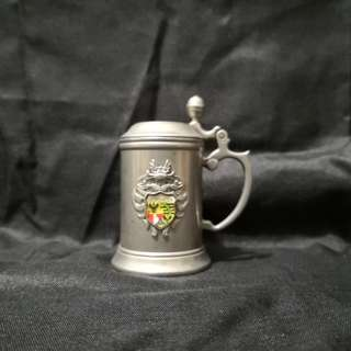 Metal miniature beer mug collection