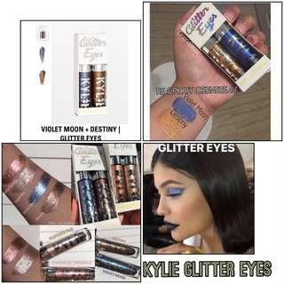 Kylie Glitter Eyes Set Destiny and Violet Moon