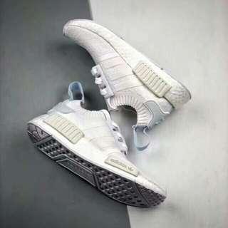 Adidas NMD R1 Primeknit Triple White