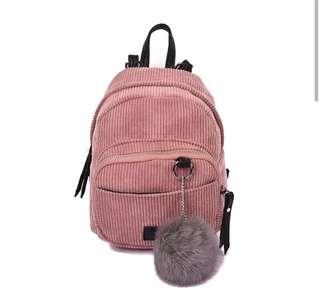 Velvet mini bag pack
