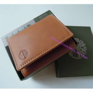AUTHENTIC Timberland wallet Men's wallet Leather wallet Trifold tan light brown