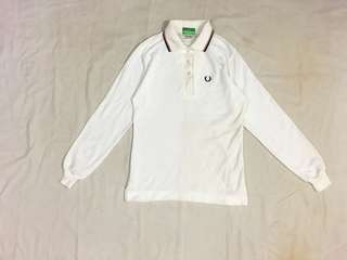 Vintage fred perry polo shirt long sleeve