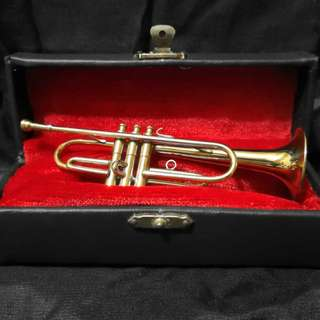 Brass miniature Trumpet instrument ornament