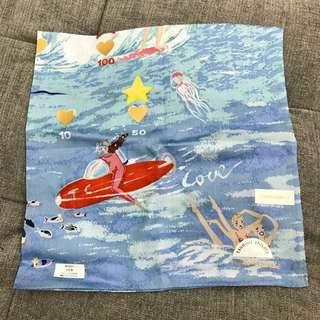 Tsumori Chisato TC 新出手巾仔 Handkerchief 手功人手印 手帕 全新 連送禮用包裝袋 Made in Japan 🇯🇵 58x58cm特大size‼️100% cotton 綿