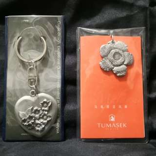Pewter keychain set of 2