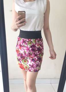 Abstract flower skirt