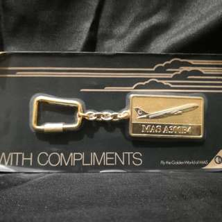 Vintage Malaysia airline keychain
