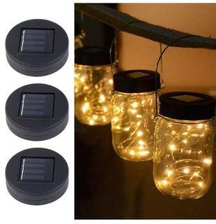 Solar Powered Mason Jar Lights, Garden Decor Mason Jar Lights 20 LED Solar Powered Fairy Pendant Light without jar