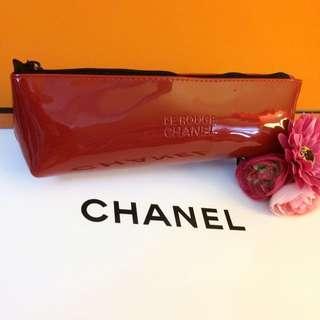 (全新)Chanel❤️時尚紅色筆袋